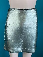 BNWT Mango Green Sequin Skirt Size M RRP 29.99EUR