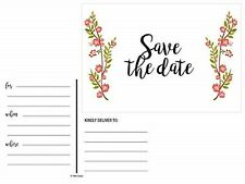 Save The Date Cards 30 pcs Floral Rustic Rose for Weddings Postcards