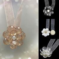 Kristall Blume Magnetverschluss Raffhalter Gardinen Halter Vorhang Stoff Band P/