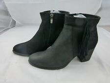 Ecco suede and leather black ankle boots, size 40 / 9, New