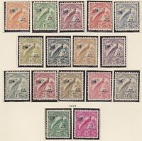 PNG398) New Guinea 1931 Birds of Paradise, undated. Ovpt. Air Mail. Complete-£1
