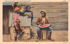 AK: 4 Jungen mit Melone@Give us de rine? Ain't going' be no rine@Texas ca 1920