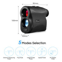 600m 6X Telescope Laser Rangefinder Speed Meter Hunting Distance Range Finder