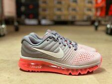 Nike Air Max 2017 женские кроссовки серый/розовый/белый 849560-007 новые все размеры