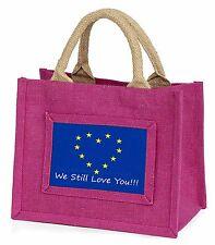 British Brexit, Europe 'We Still Love You' Little Girls Small Pink, BRITISH-4BMP