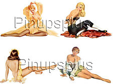 Pinup Girl Waterslide Decal Stickers 4 Beautiful Images Nose Art Bomber Art #68