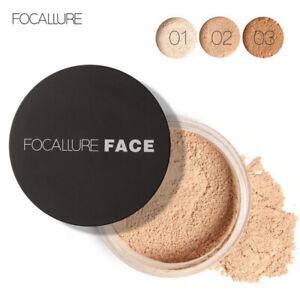 FOCALLURE Makeup Powder Loose Powder Face Makeup Waterproof Skin Finish Powder!!