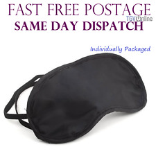 TRAVEL EYE MASK, SLEEP SLEEPING COVER REST EYEPATCH BLINDFOLD (BLACK) NEW
