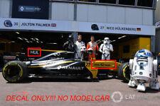 Decal renault rs17 MOVIE Hulkenberg Palmer Monaco GP17 1/18 minichamps spark F1