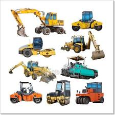 Set Of Construction Machinery Art Print Home Decor Wall Art Poster - C