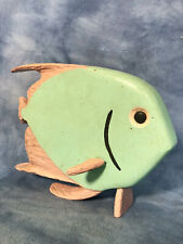 Vtg Hand Carved Painted Tropical Fish Figure Sculpture Beach House Decor Florida