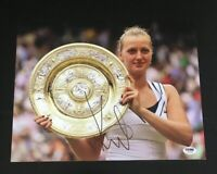PETRA KVITOVA Signed Auto 11x14 USTA Tennis Photo PSA/DNA Z61526