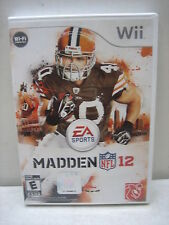 NINTENDO WII MADDEN 12 GAME COMPLETE & TESTED