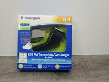 KENSINGTON RDS FM Transmitter/Car Charger for 30 Pin iPod K33364US Brand NEW!