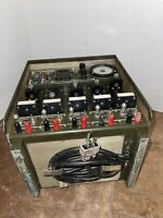 VINTAGE PP-7286/U RADIO UNIVERSAL 5 STATION BATTERY CHARGER US ARMY MILITARY