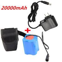 20000mAh Wiederaufladbar 8.4V Akku für Fahrrad-Licht-Scheinwerfer + AC Ladegerät