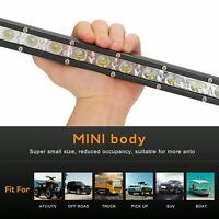 "Ultra-thin Small Single Row Strip Car  Roof Light 20"" LED Headlight Work Light"