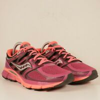 SAUCONY ISO FIT Womens ZEALOT Magenta/Coral Running Shoes Sz 9.5 GRED+ S10269-3