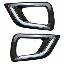 BLACK LED DRL Fog Light Covers - Daytime Running Lights For Nissan Navara NP300