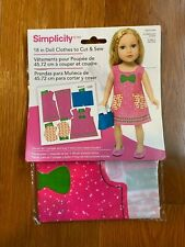 Simpicity 18 in Doll Clothes to cut & sew