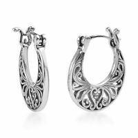 925 Sterling Silver Hoops Hoop Circle Loops Earrings Fashion Jewelry for Women