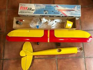"Great Planes Balsa Wood Electric R/C Model Kit RYAN STA EP 49"" WS Partial Build"