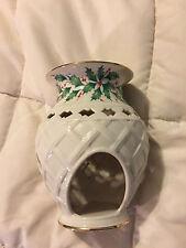 Vintage Lenox Dimensions Collection Holiday Holly Leaf Fine Porcelain Tea Light