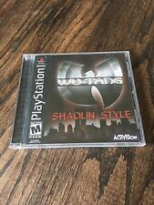 Wu-Tang Shaolin Style Sony PlayStation 1 Psx Cib Black Label
