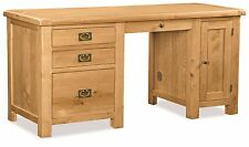 Zelah Oak Large Home Office Desk / Solid Wood Large Oak Home Office Desk / New