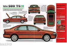 1998/1999 VOLVO S80/s-80 T6 SPEC Hoja/Catálogo/Catalog / DE FOTO