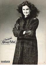PUBLICITE ADVERTISING  1982   SPRUNG FRERES  boutique fourrure