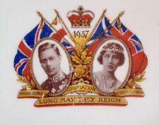 1937 Coronation Commemorative Plate. Alfred Meakin Marigold. Astoria Shape.