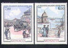 Monaco 1987 Art/Transport/Buildings/Railway Station/Horses/Carriage 2v (n34424)