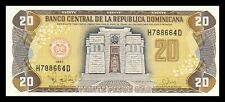 DOMINICAN REPUBLIC 20 PESOS ORO 1997. PICK 154a. SC. UNC (UNCIRCULATED).