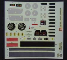 Pocher 1:8 Ferrari Aufkleber Set Speedometer Testarossa K51 K52 rot Decals M18