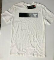 Under Armour Project Rock USDNA Bar Graphic Bull MFO Men's SZ S  T-Shirt White
