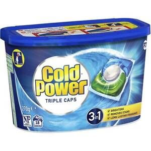 Cold Power Triple Capsules Laundry Detergent 18pk NEW