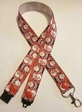 Christmas Santa & snowman ribbon lanyard safety clip ID badge holder gift