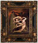 Bouguereau Dante and Virgil in Hell Wood Framed Canvas Print Repro 8x10