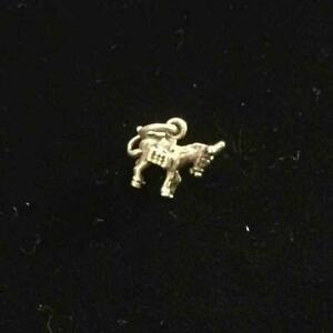 Silver Vintage CHARM  : DONKEY . Excellent (ref21)