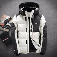 Under Armour Men's Winter Warm Thick Duck Down Jacket Snow Hooded Coat Parka