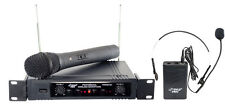 Pyle Pro PDWM2700 VHF Wireless Microphone System 2 Channels 150' Range