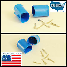 9007 9004 hb1 hb5 Male connection HID Plug Socket adapter cap Covers seal w/PINS