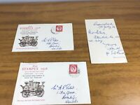 GB 1956 STAMPEX MAIL COACH COVER WITH STAMPEX Plus Letter Rare 1956