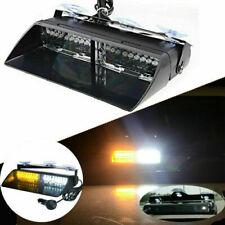 New listing 16 Led White/Yellow Police Car Strobe Flash Light Dash Emergency Flashing Light