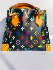 Auth Louis Vuitton limited edtion Audra Noir Black Murakami multicolor tote bag