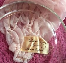 Vintage Dents Long Nylon Gloves Size 7 Pink Rose Mesh  Ruched Opera Brightmaid