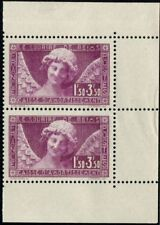 Lot N°2587 France N°256a Paire issue de carnet Neuf ** LUXE