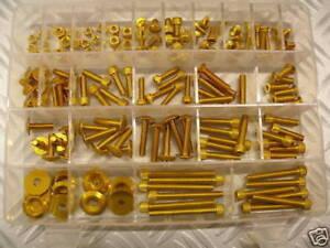 Juego de Tornillos ergal 150Pcs M5 M6 Tornillos Dados Arandelas Oro! Fantástico