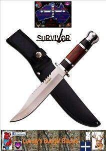 Survivor HK-781L Fixed Sawback Blade Hunting/Camping Knife